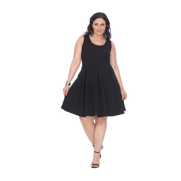 White Mark Dresses   Plus Size Crystalfit Flare Dressps8261 Black ...
